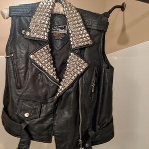 Vintage Studded Leather Vest